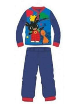 Chlapecké bavlněné pyžamo králíček Bing a Flop - tm. modré