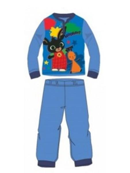 Chlapecké bavlněné pyžamo králíček Bing a Flop - sv. modré