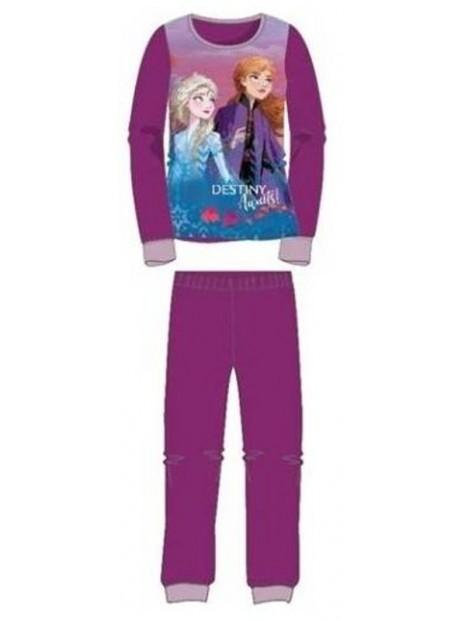 Dievčenské bavlnené pyžamo Ľadové kráľovstvo / Frozen 2 - vínové