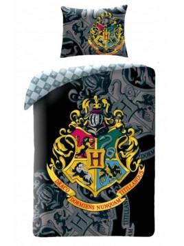 APtex - Bavlnené posteľné obliečky Harry Potter - erb / znak / 140 x 200 cm + 70 x 90 cm / 100% bavlna