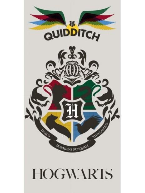 Plážová bavlněná osuška Harry Potter - barevný erb