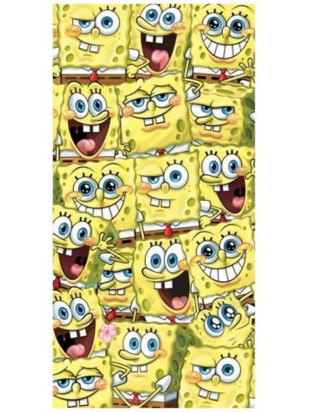Plážová bavlněná osuška Spongebob