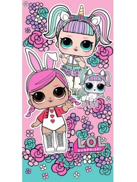 Dievčenské bavlnená osuška L.O.L. Surprise - ružová