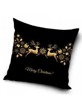 Dekorační povlak na polštářek zlaté Vánoce