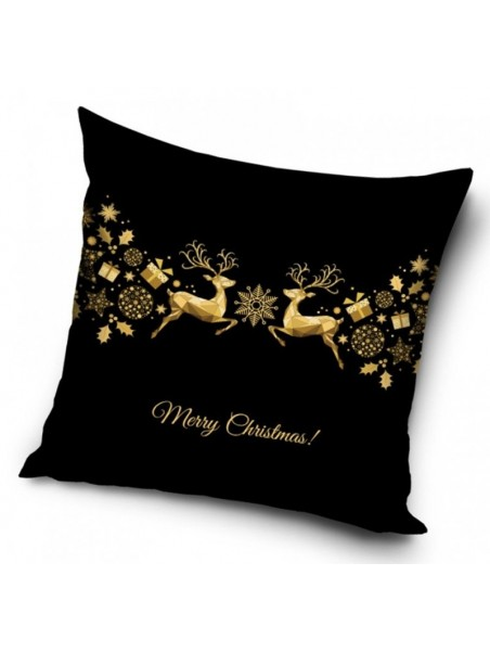 Dekorační polštářek zlaté Vánoce