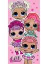 Dievčenská bavlnená osuška L.O.L. Surprise - princess párty