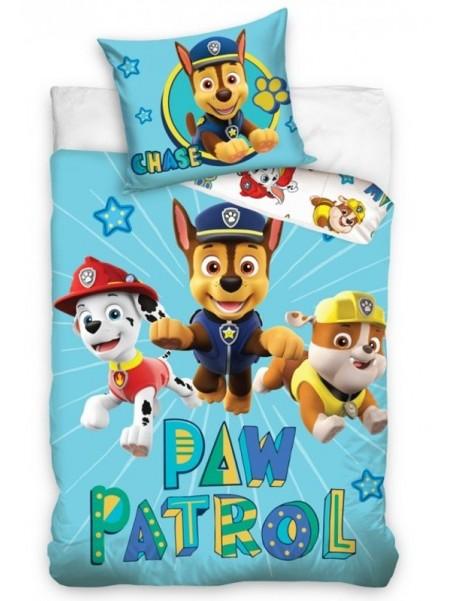 Bavlnené obliečky do detskej postieľky Tlapková patrola - Chase vyčíňa