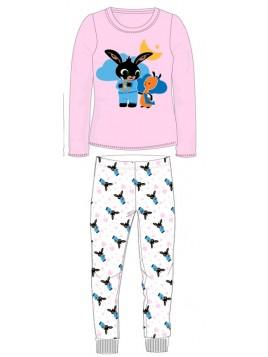 Dívčí bavlněné pyžamo králíček Bing a Flop - sv. růžové