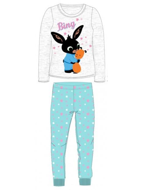 Dívčí bavlněné pyžamo králíček Bing a Flop - sv. šedé