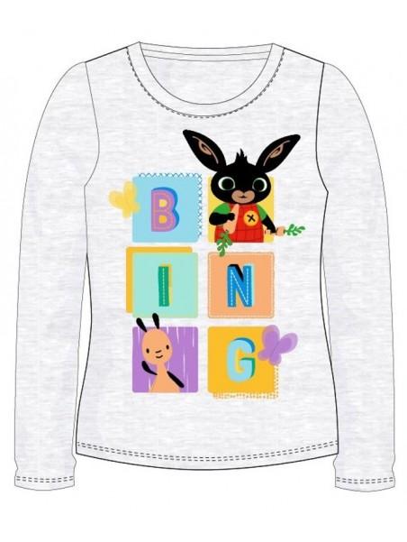 Dívčí tričko s dlouhým rukávem Zajíček Bing šedé