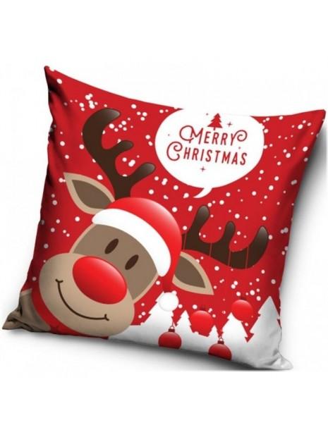 Dekorační povlak na polštář krásné Vánoce - sob