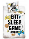 Bavlněné ložní povlečení EAT SLEEP GAME REPEAT