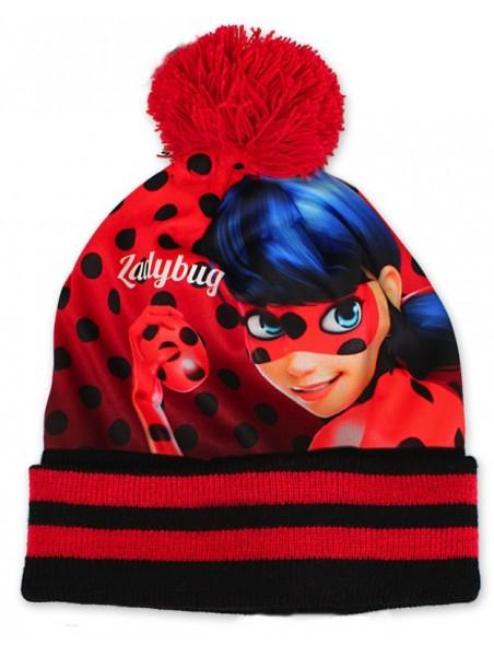 Dívčí zimní čepice Kouzelná beruška - červená