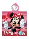 Dětské bavlněné pončo osuška s kapucí Minnie Mouse - růžová