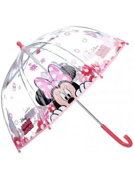 Dívčí deštník Minnie Mouse - Disney - transparentní