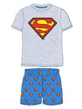 Chlapecké letní pyžamo Superman - šedé
