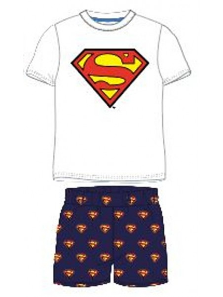 Chlapecké letní pyžamo Superman - bílé