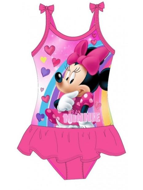 Dívčí jednodílné plavky Minnie Mouse Disney - tm. růžové