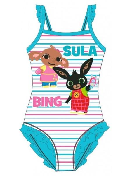 Dívčí jednodílné plavky Zajíček Bing a Sula - tyrkysové