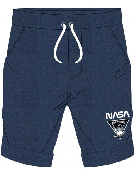 Chlapecké kraťasy NASA - tm. modré
