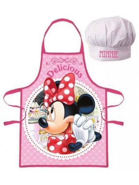 Dětská zástěra a kuchařská čepice Minnie Mouse ❤ Delicious