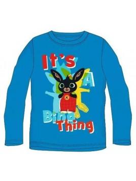 Chlapecké tričko s dlouhým rukávem Zajíček Bing - modré