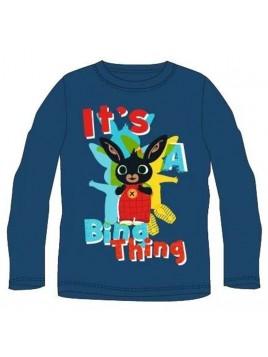 Chlapecké tričko s dlouhým rukávem Zajíček Bing - tm. modré