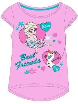 Dívčí tričko s krátkým rukávem Ledové království - Frozen - růžové