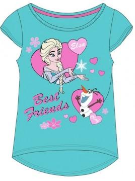 Dívčí tričko s krátkým rukávem Ledové království - Frozen - modré