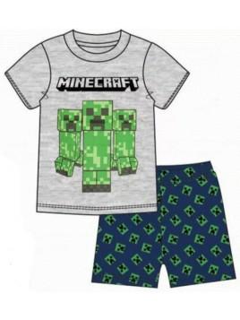 Chlapecké letní pyžamo Minecraft - šedé