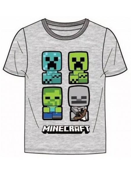 Chlapecké tričko s krátkým rukávem Minecraft - šedé