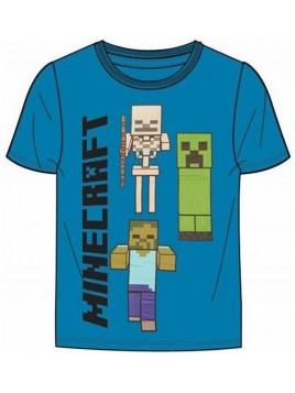 Chlapecké tričko s krátkým rukávem Minecraft - modré