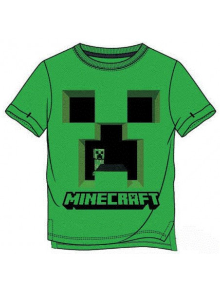 Chlapecké tričko s krátkým rukávem Minecraft Creeper - zelené