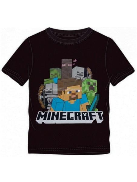 Chlapecké tričko s krátkým rukávem Minecraft - černé