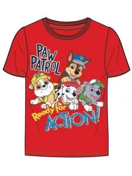 Chlapecké tričko s krátkým rukávem Tlapková patrola - ACTION - červené