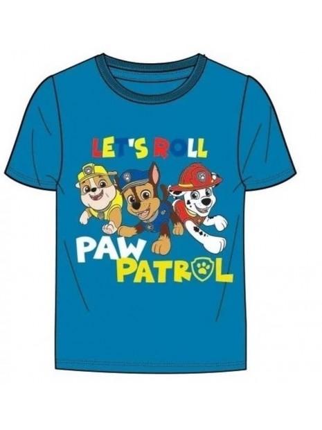 Chlapecké tričko s krátkým rukávem Tlapková patrola - LETŚ DOLL - modré