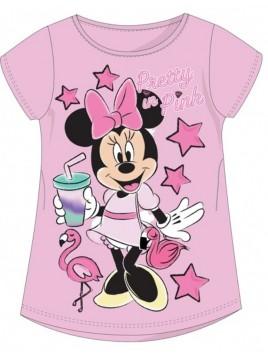 Dívčí tričko s krátkým rukávem Minnie Mouse (Disney) - sv. růžové