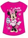 Dívčí tričko s krátkým rukávem Minnie Mouse (Disney) - tm. růžové