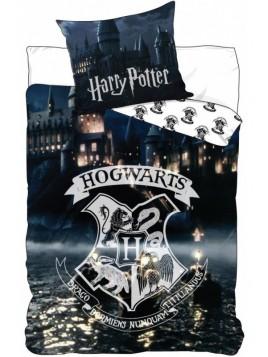 Setino - Bavlnené posteľné obliečky Harry Potter - škola čarov a kúziel Rokfort / 140 x 200 cm + 70 x 90 cm