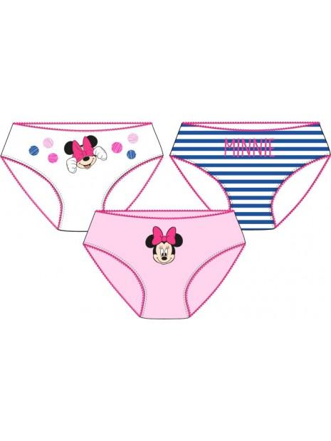 Dívčí bavlněné kalhotky Minnie Mouse Disney - 3ks
