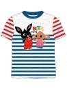 Krásne šedé tričko s motívom - Zajačik Bing. Je vyrobené z príjemného 100% bavlneného materiálu. Tričko má okrúhly výstrih, krátke rukávy a prednú stranu zdobí obrázok zajačika Binga a slonica Suly.