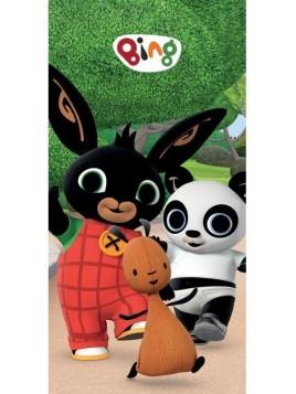 Dětská bavlněná osuška zajíček Bing, Pando a Flop