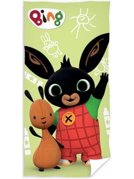 Dětská bavlněná osuška zajíček Bing a Flop - zelená