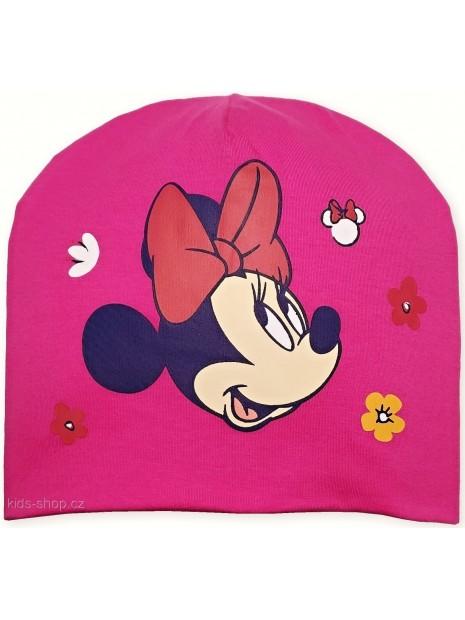 Dívčí přechodová čepice Minnie Mouse - Disney - tm. růžová