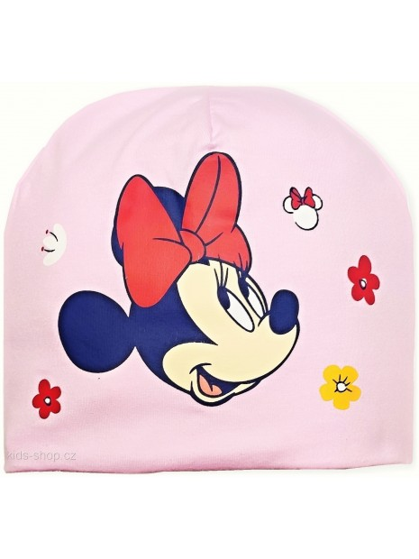 Dívčí přechodová čepice Minnie Mouse - Disney - sv. růžová