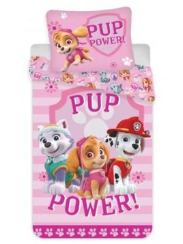 Bavlněné povlečení do dětské postýlky Tlapková patrola - růžové