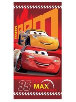 Dětská bavlněná osuška Auta - Blesk McQueen 95 - červená