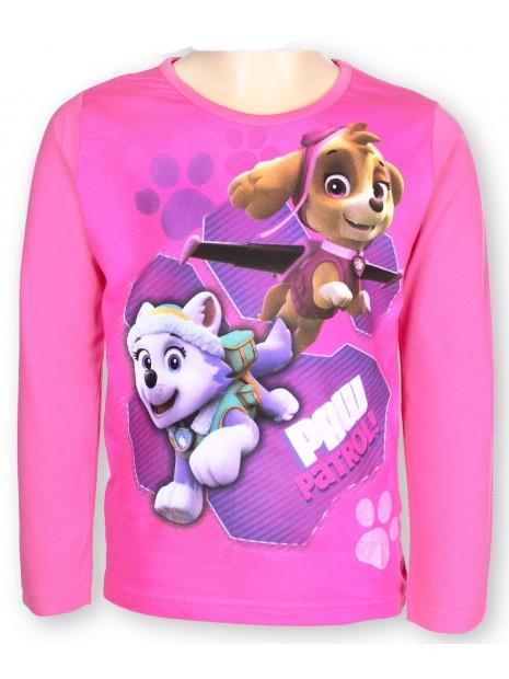 Dívčí tričko s dlouhým rukávem Tlapková patrola