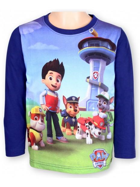 Chlapecké tričko s dlouhým rukávem Tlapková patrola