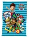Dětská flísová deka s obrázkem Marschalla, Chase, Rubble a Rydera z oblíbené pohádky Tlapková patrola (PAW PATROL). Je hřejivá a velmi příjemná na dotek. Rozměr 100 x 140 cm.
